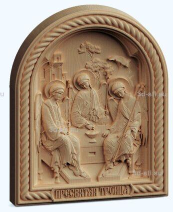 stl модель икона Троица