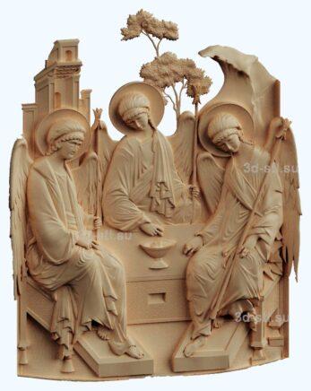 stl модель образ Троица