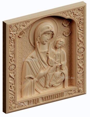 3d stl модель-икона Божья Матерь Тихванская