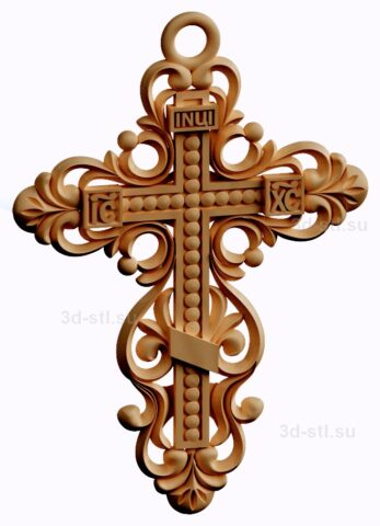 stl модель-крест нательный