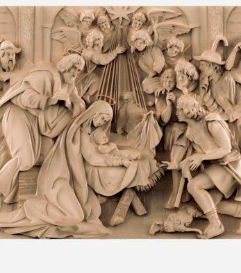 stl модель-Икона Рождение Христа