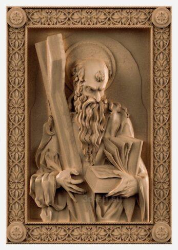 stl модель-Икона Св Атостол Андрей
