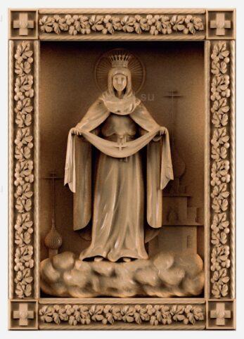 stl модель-Икона Покров Пресвятой Богородицы
