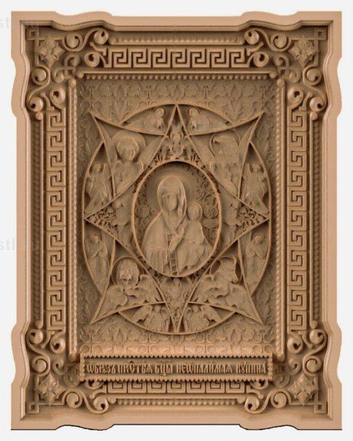 """stl модель-Икона Образ Пресвятой Богородицы """"Неопалимая Купина"""""""