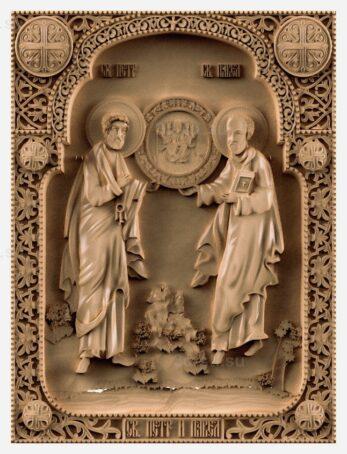 stl модель-Икона Св. Петр и Павел