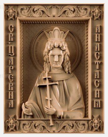 stl модель-Икона Св царевна Анастасия