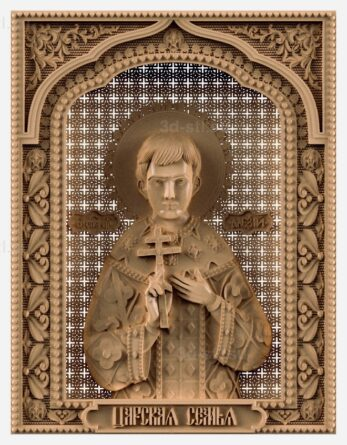 stl модель-Икона Св. царевич Алексей
