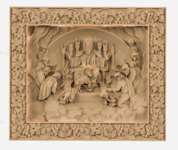 stl модель-Икона Апосталы перед Господом