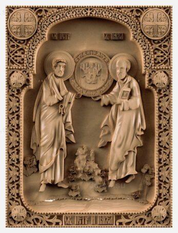 stl модель-Икона СВ. Павел и Петр