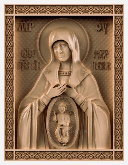 stl модель-Икона Божья Матерь «Помощница в родах»