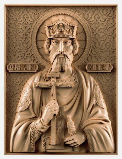 stl модель-Икона Св. Владимир