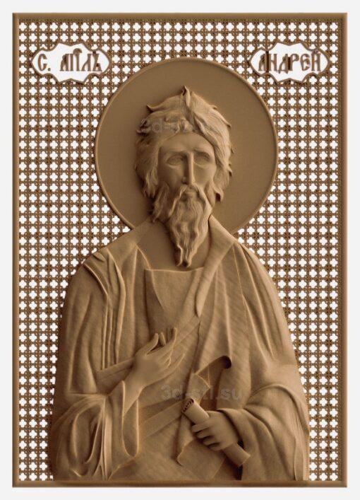 stl модель-Икона Св Андрей Первозванный