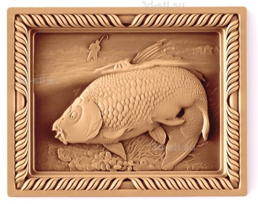 stl модель-Панно Рыбалка
