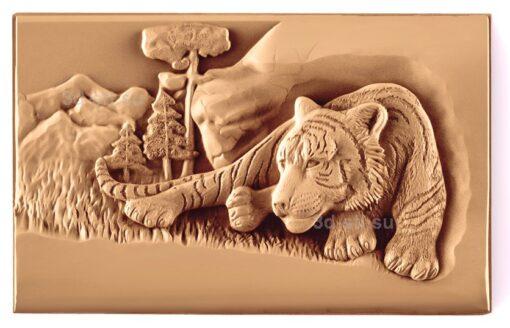 stl модель-Панно Тигр отдыхает