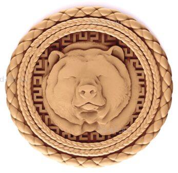 stl модель-Панно Медвежья голова
