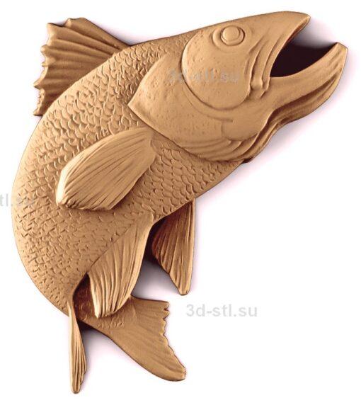 stl модель-Панно Рыба