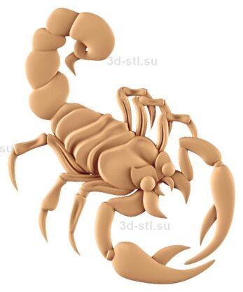 stl модель-Панно Скорпион
