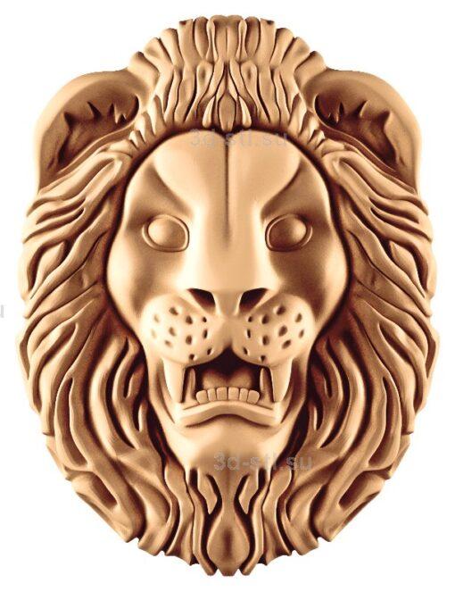 stl модель-Панно Лев