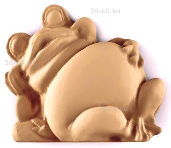 stl модель-Панно Лягушка