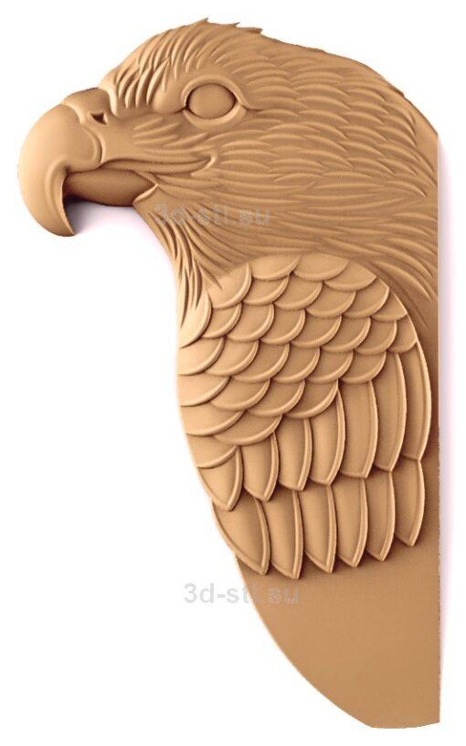 stl модель-Панно Орел