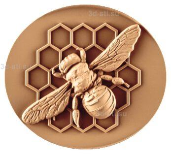 stl модель-Панно Пчела