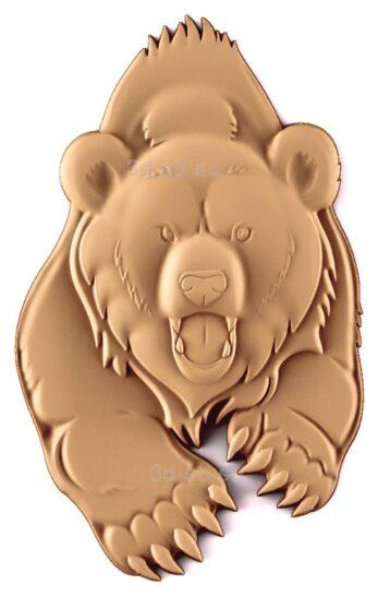 stl модель-Панно Медведь