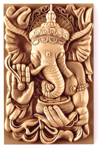 stl модель-Панно Слон Бог