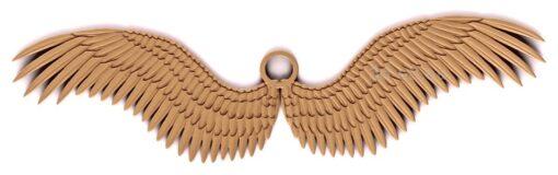 stl модель-Панно Крылья Ангела