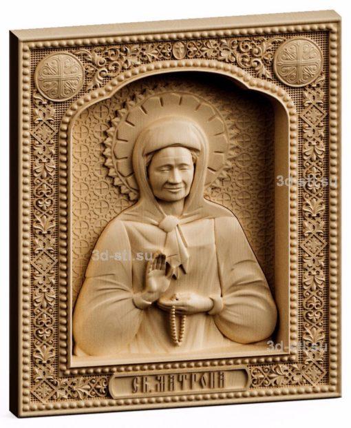 3d stl модель- икона Св. Матрона Московская