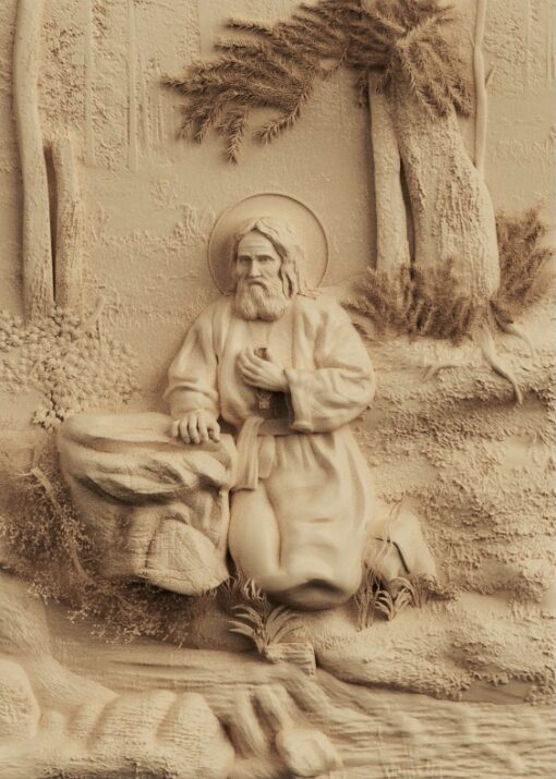stl модель-икона Святой Серафим Саровский