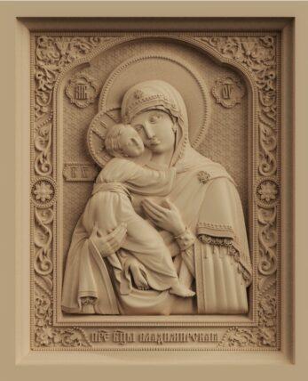 stl модель-икона Владимериская Божья Матерь