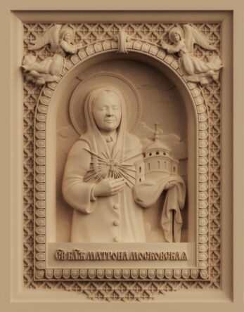 stl модель-икона Блаженная Матро́на Московская
