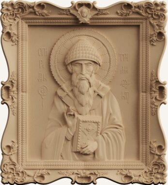stl модель-икона Св.Спиридон: