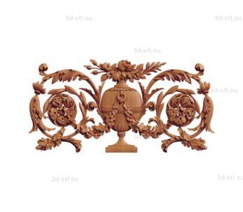 stl модель- Накладка декоративная №013