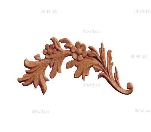 stl модель- Накладка декоративная №017