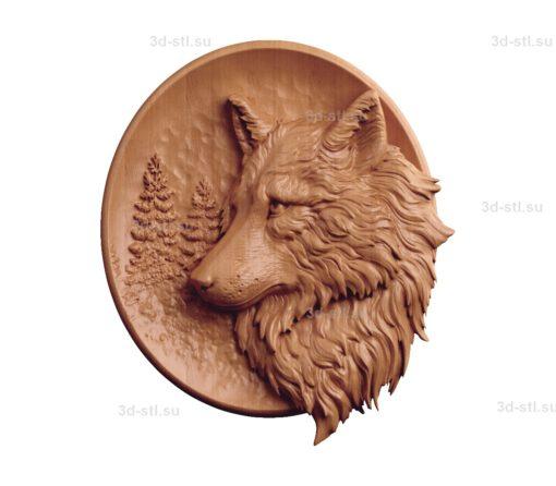 Тарелка волки