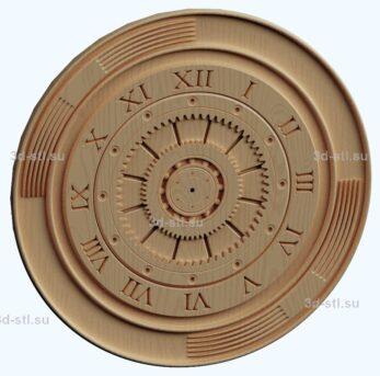 stl модель- Часы техно