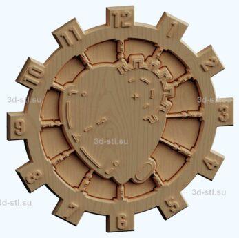 stl модель Часы техно