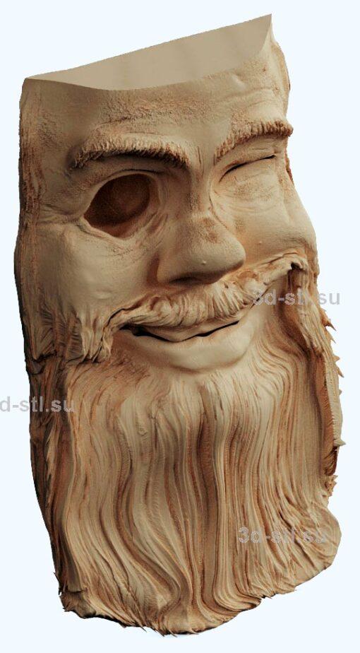 stl модель панно дерево-старик