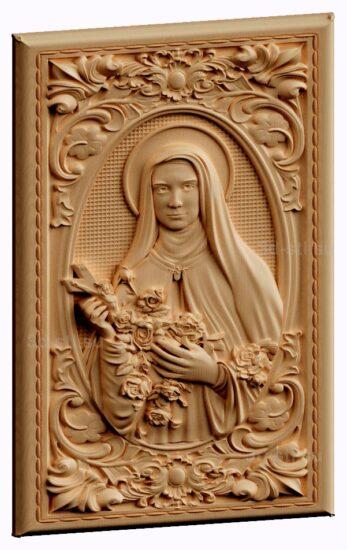stl модель-икона Святая Тереза.Католическая святая