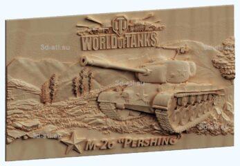 STL МОДЕЛЬ панно World of Tanks