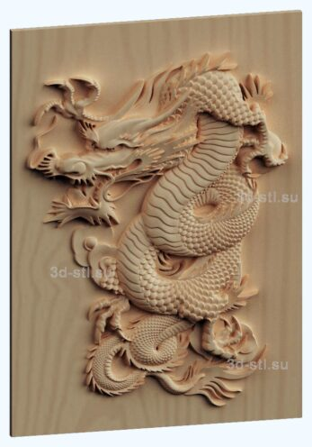 stl модель панно- Дракон