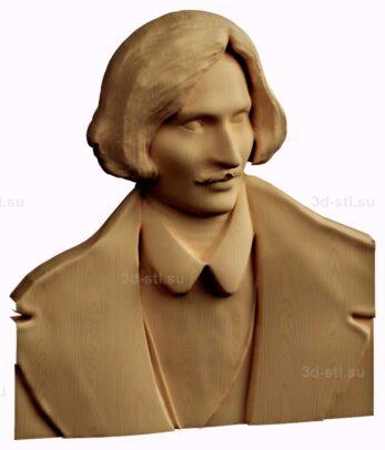 stl модель-барельеф  Гоголь