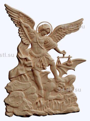 3d stl модель-Архангел Михаил  барельеф № 68