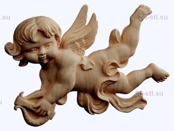 3d stl модель-ангел  барельеф № 75