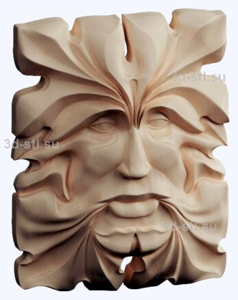 3d stl модель-лицо  барельеф № 78