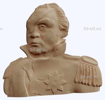 3d stl модель-Кутузов  барельеф № 85