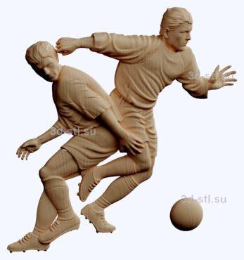 3d stl модель-футболисты  барельеф № 88