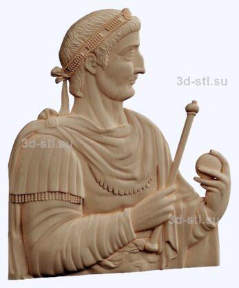 3d stl модель-Римский император  барельеф № 89