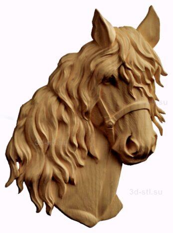 stl модель-барельеф  лошади
